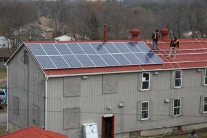 Solar Pane Installation - Half-way Point